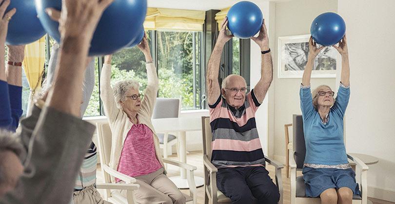 Maison de retraite gymnastique douce